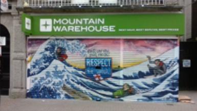 Graffiti Artist Paints Newquay Store Front