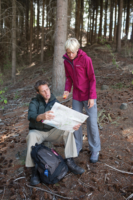 Using a map geocaching