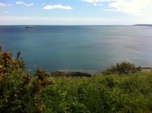 View of Famlmouth coastline