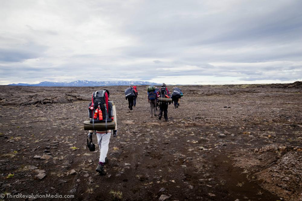 Heading to Askja Volcano