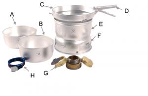 Non pressurized liquid stove