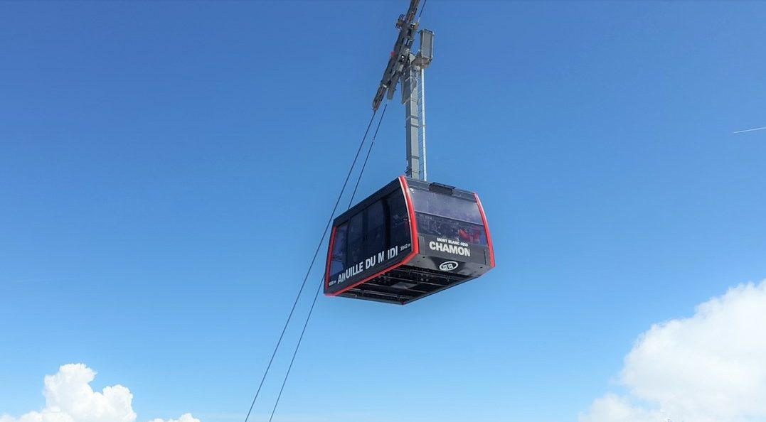 Chamonic Cable Car: Skiing In December