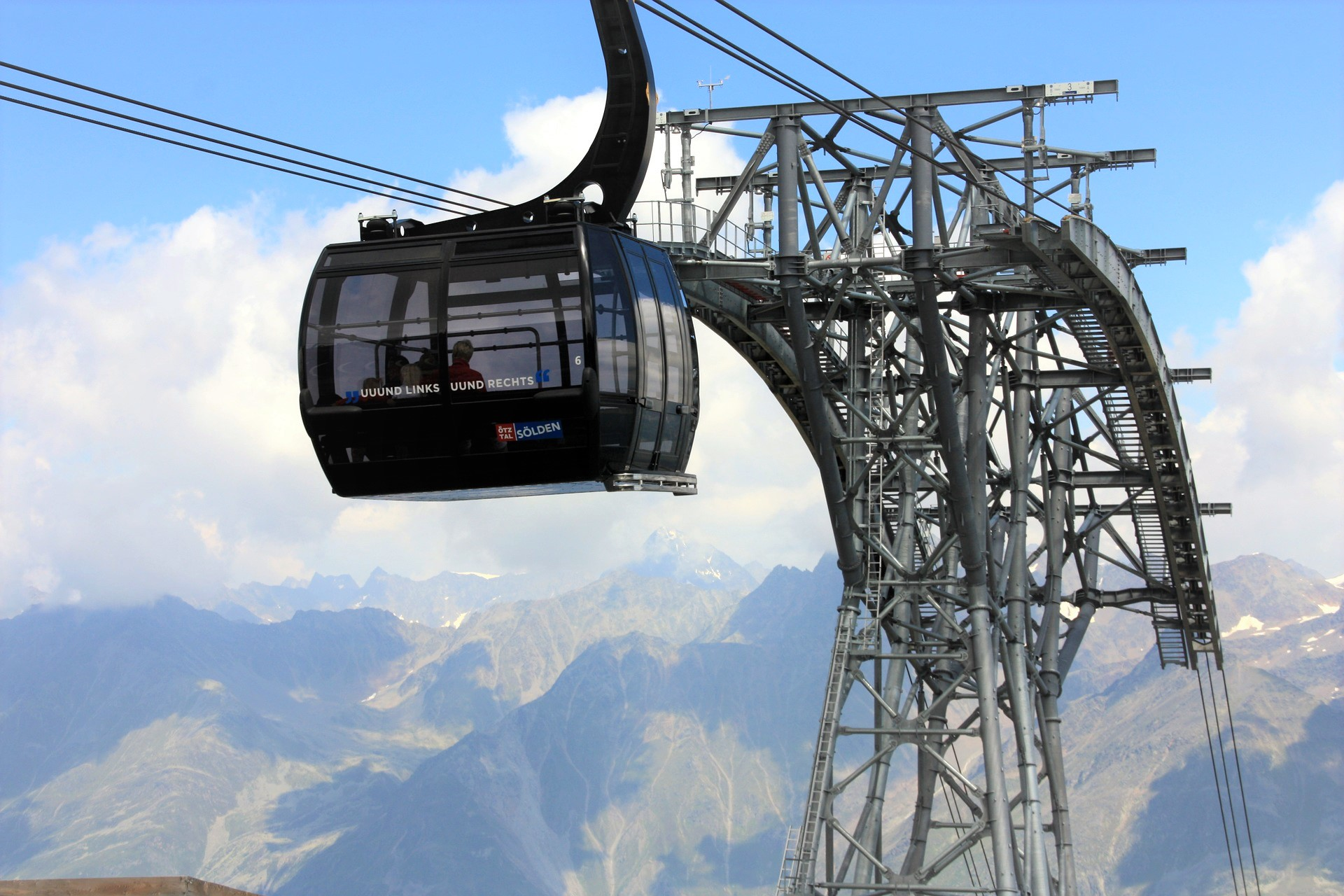 Solden Cable Car: Early Season Skiing